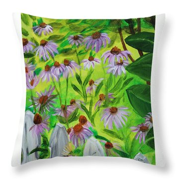 Summer Flowers In Peculiar Mo. Throw Pillow