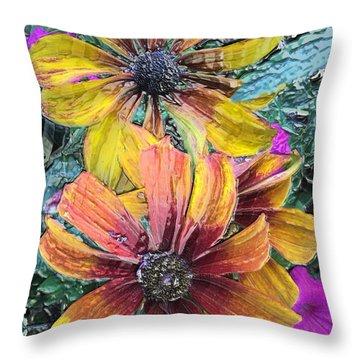 Summer Flowers One Throw Pillow