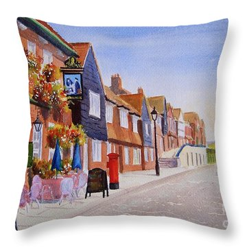 Summer Folkestone Harbour Uk Throw Pillow