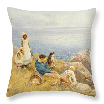 Summer Frolic Throw Pillow by Thomas James Lloyd