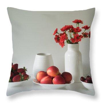 Fruit Bowl Throw Pillows