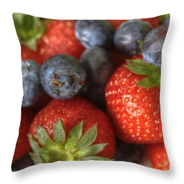 Summer Fruits Throw Pillow by Tracy  Hall