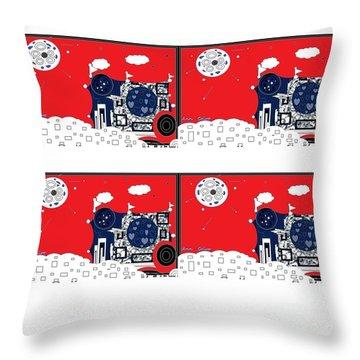 Throw Pillow featuring the digital art Summer Fun by Ann Calvo