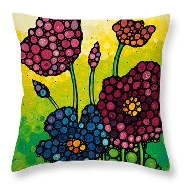 Summer Garden 2 Throw Pillow by Sharon Cummings