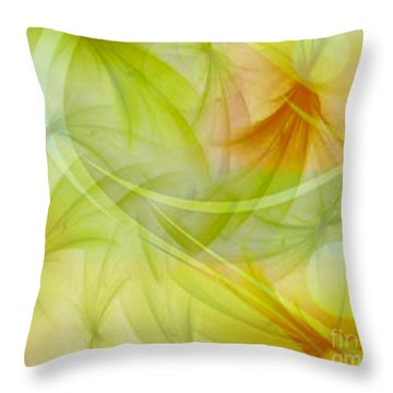 Summer Garden Abstract Throw Pillow by Judy Palkimas