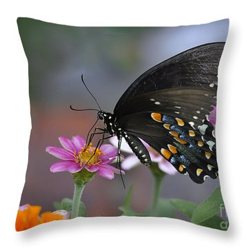 Throw Pillow featuring the photograph Summer Garden by Nava Thompson
