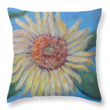Summer Garden Sunflower Throw Pillow by Patty Weeks