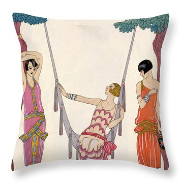 Summer Throw Pillow by Georges Barbier