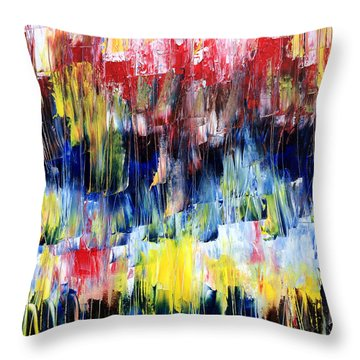 Throw Pillow featuring the painting Summer Haze by Rebecca Davis