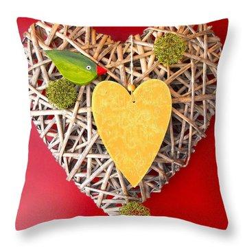 Throw Pillow featuring the photograph Summer Heart by Juergen Weiss