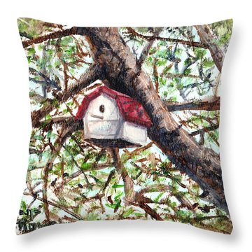 Throw Pillow featuring the painting Summer Home by Shana Rowe Jackson