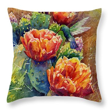 Summer Hummer Throw Pillow