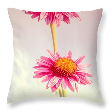 Summer Impressions Cone Flowers Throw Pillow by Bob Orsillo