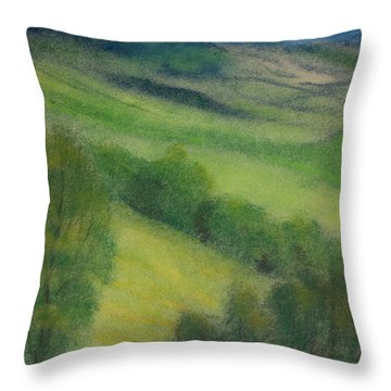 Summer In England Throw Pillow by Ewa Hearfield