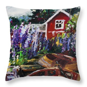 Summer In Sweden Throw Pillow