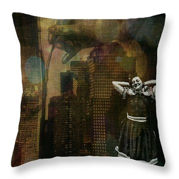 Throw Pillow featuring the digital art Summer In The City by Delight Worthyn