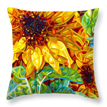 Summer In The Garden Throw Pillow