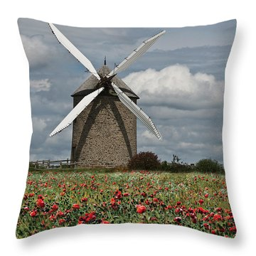 Summer In The Normandy Throw Pillow