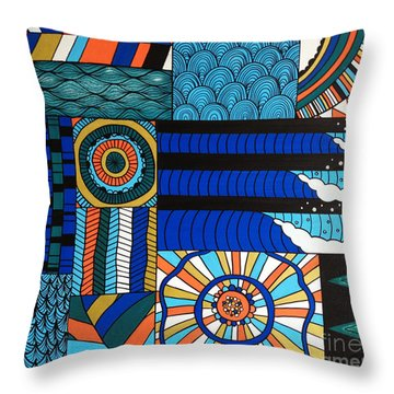 Summer In The Water Throw Pillow