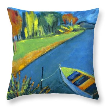 Summer Is Too Short At The Lake Throw Pillow by Betty Pieper