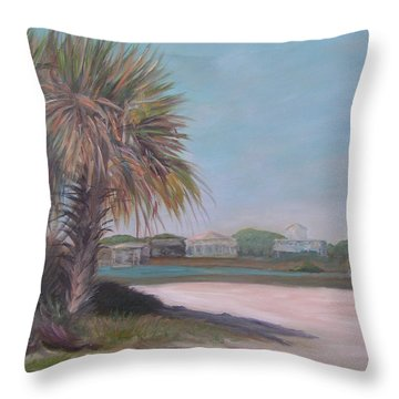 Summer Island Throw Pillow