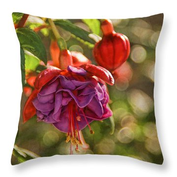 Summer Jewels Throw Pillow by Peggy Hughes