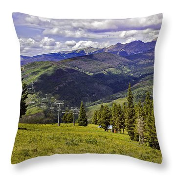 Summer Lifts - Vail Throw Pillow