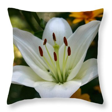 Summer Lily Throw Pillow by Denyse Duhaime