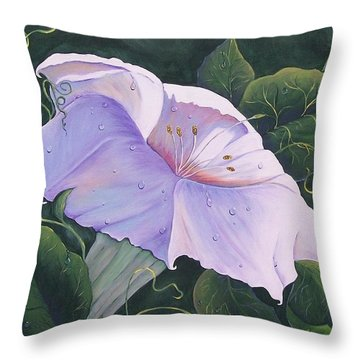 Morning Glory  Throw Pillow by Sharon Duguay