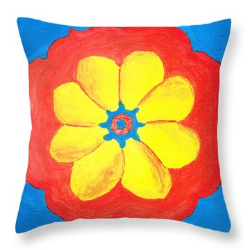 Summer Mandala Throw Pillow
