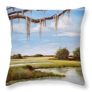 Summer Marsh Throw Pillow