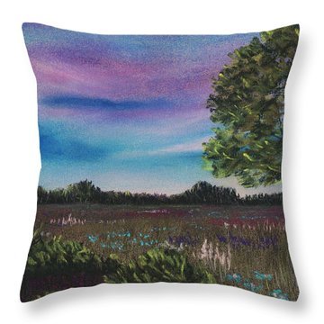 Summer Meadow Throw Pillow by Anastasiya Malakhova