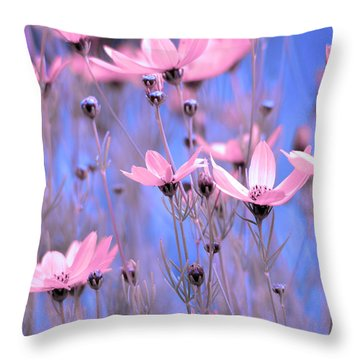 Summer Meadow Throw Pillow by Tommytechno Sweden