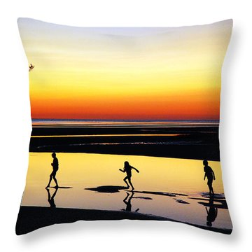 Summer Memories Throw Pillow by James Kirkikis