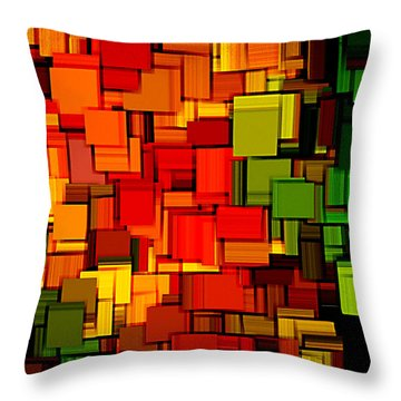 Summer Modern Abstract Art Xviii Throw Pillow by Lourry Legarde