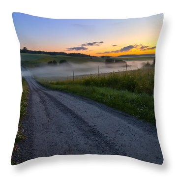 Summer Morning At 3.31 Throw Pillow