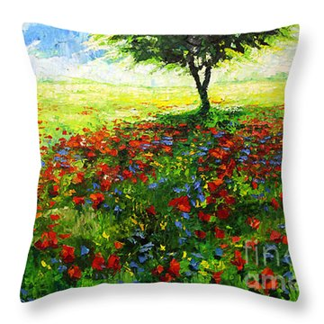 Summer Noonday Throw Pillow by Yuriy Shevchuk
