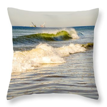 Summer Ocean Scene 1 Throw Pillow