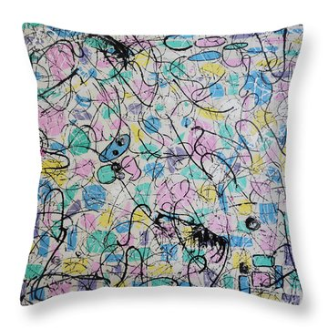 Summer Of '81 Throw Pillow by Mini Arora