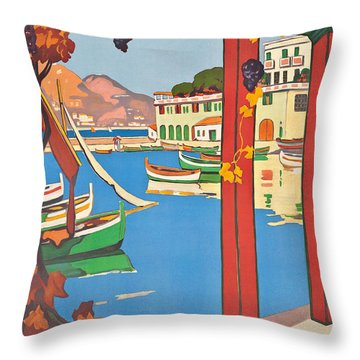 Summer On The Cote D Azur Throw Pillow by Guillaume Georges Roger