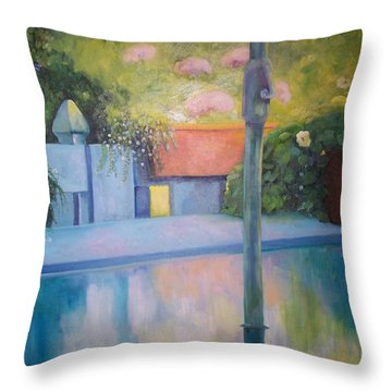 Summer On The Deck Throw Pillow by Marlene Book