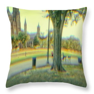 Summer On The Mall Throw Pillow