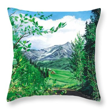 Summer Paradise Throw Pillow