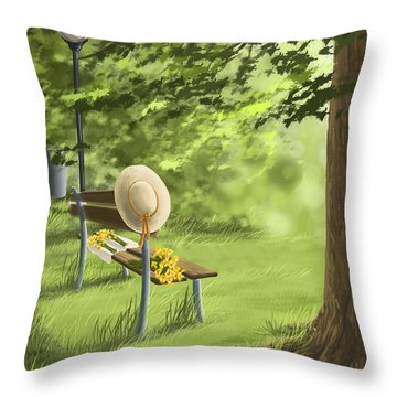 Summer Paradise Throw Pillow