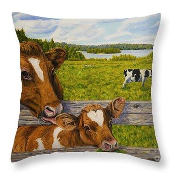 Summer Pasture Throw Pillow by Veikko Suikkanen