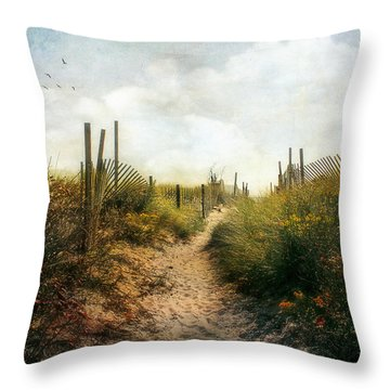 Throw Pillow featuring the photograph Summer Pathway by John Rivera