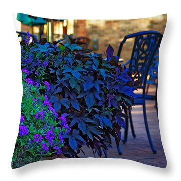 Summer Patio Throw Pillow