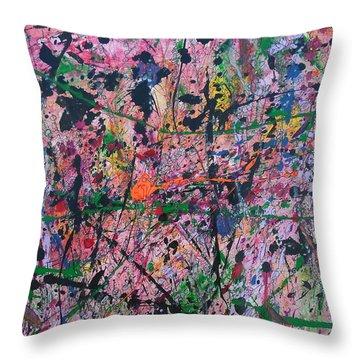 Summer Rain Throw Pillow by Ronda Stephens