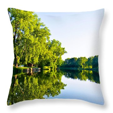 Throw Pillow featuring the photograph Summer Reflections by Sara Frank