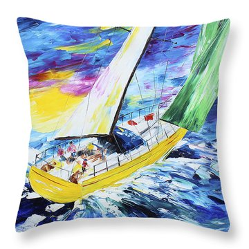 Summer Sail Throw Pillow